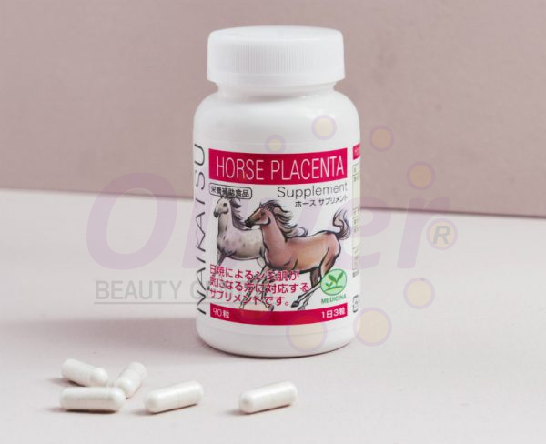 Viên uống trắng da Naikatsu Horse Placenta